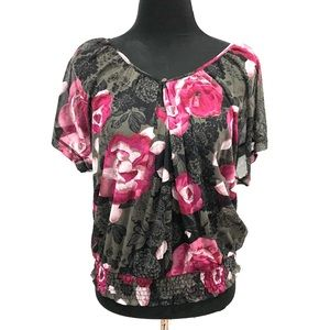 George floral sheer top